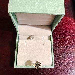 Sterling Silver Flower Ring sz 7